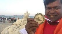 Sand artist Sudarshan Pattnaik को अमेरिका में मिला Award