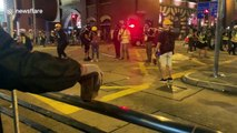 Injuries and arrests as police attempt to clear protesters from Hong Kong's streets