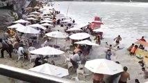 Une vague géante sème la panique sur une plage du brésil