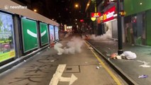 Watch the incredible way Hong Kongers neutralise tear gas canisters