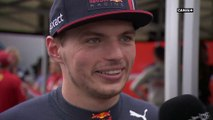 La réaction de Max Verstappen