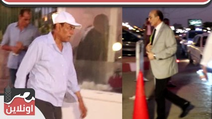 لحظة وصول محمد صبحي و أشرف ذكي و أحمد بدير عزاء الراحل فاروق الفيشاوي