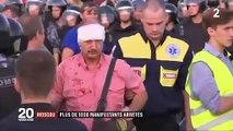 Moscou : mobilisation inédite contre le pouvoir, 1 400 personnes interpellées