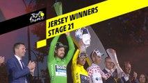 Vainqueurs des maillots à enjeu / Jersey Winners - Étape 21 / Stage 21 - Tour de France 2019