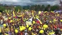 Fans in Egan Bernal's Colombian home town watch Tour de France win