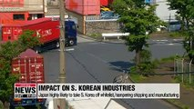 Many S. Korean industries could be targeted by Japan's widened export curbs