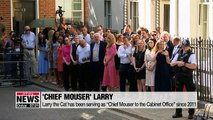 At the residence of 10 Downing Street in London,... one key cabinet member serves the British Prime Minister by kicking out mice. Our Park Hee-jun has the details on Larry,... the 'Chief Mouser to the Cabinet Office'.  As Britain's new Prime Minister Bori