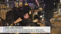 At least 49 arrested in latest unauthorized demonstration in Hong Kong