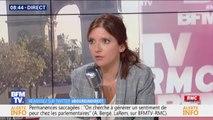 """Aurore Bergé: """"On a le droit d'avoir des divergences"""" mais """"on n'a pas le droit de contraindre par la force le vote des parlementaires"""""""