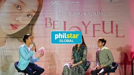 Lee Sung Kyoung serenades filipino fans