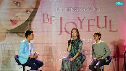 Lee Sung Kyoung's message to filipino fans