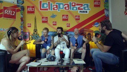 Biffy Clyro en interview au festival Lollapalooza