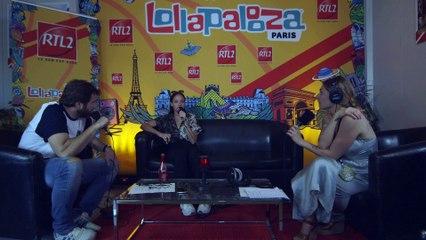 Jain en interview au festival Lollapalooza
