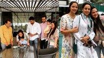 Esha Deol celebrates her sister Ahana Deol's birthday with Hema Malini |FilmiBeat