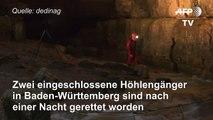 Zwei Männer aus Höhle in Baden-Württemberg gerettet