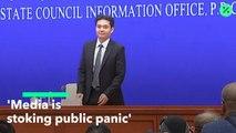 China Says Media Helped Stoke Panic in Hong Kong