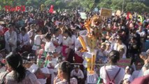 Anak-anak Pawai Ogoh-ogoh Mini Jelang Hari Raya Nyepi