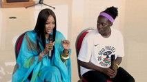 Naomi Campbell encourage le basketball féminin