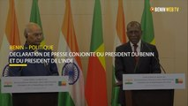 Benin : déclaration de presse conjointe du président du Bénin et du président de l'Inde