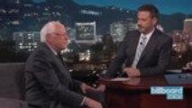 Bernie Sanders Stops by 'Kimmel,' Talks A$AP Rocky, and Cardi B | Billboard News