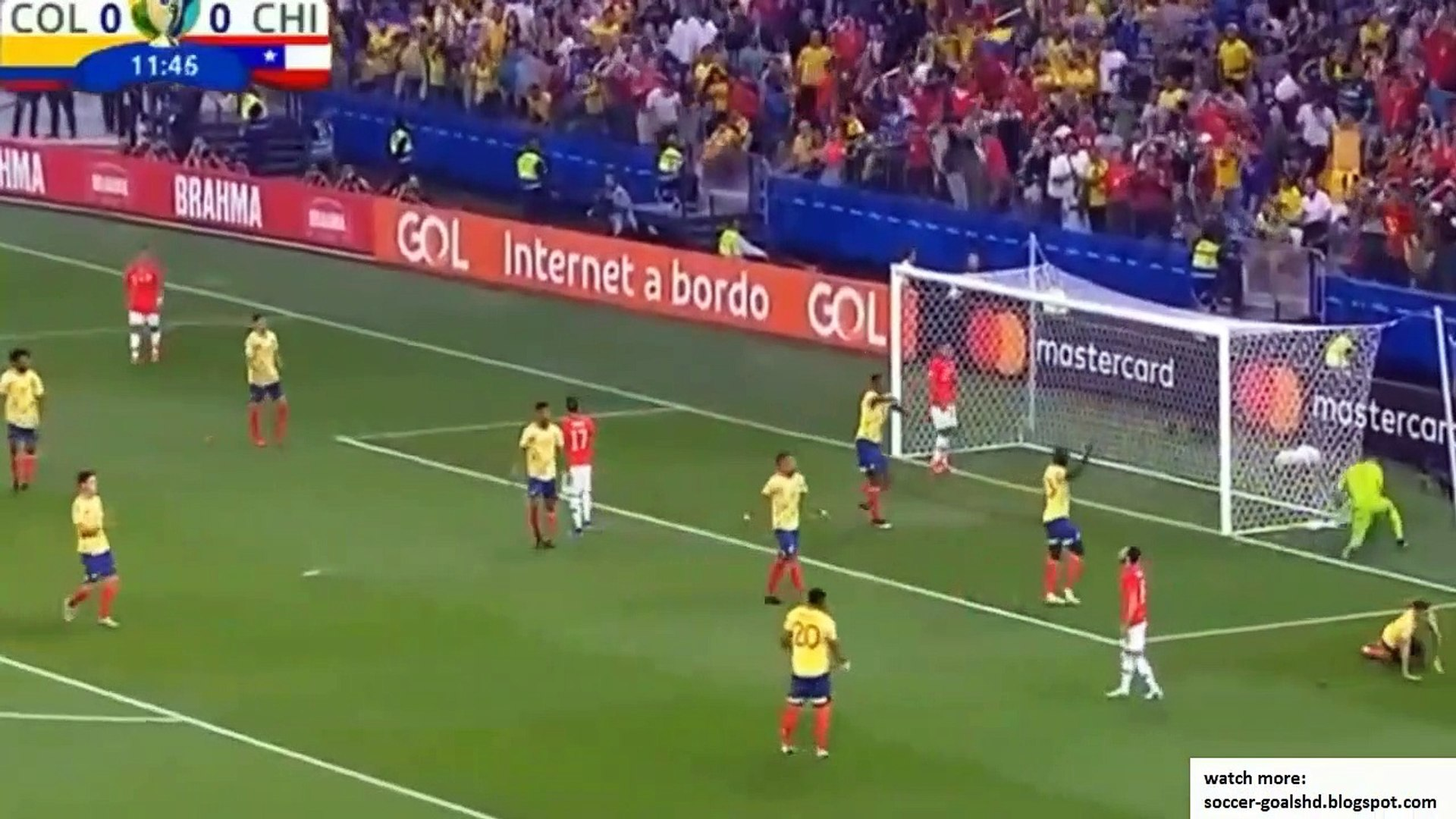 Colombia vs Chile  All Goals and Extended Highlights 720 x 1280