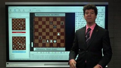 Grandmaster Alexandra Kosteniuk visits the Paris Rapid & Blitz set