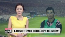 Lawyer files lawsuit against Ronaldo, Juventus and event organizer over 'no-show'