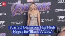Scarlett Johansson Thinks 'Black Widow' Solo Movie Is Promising