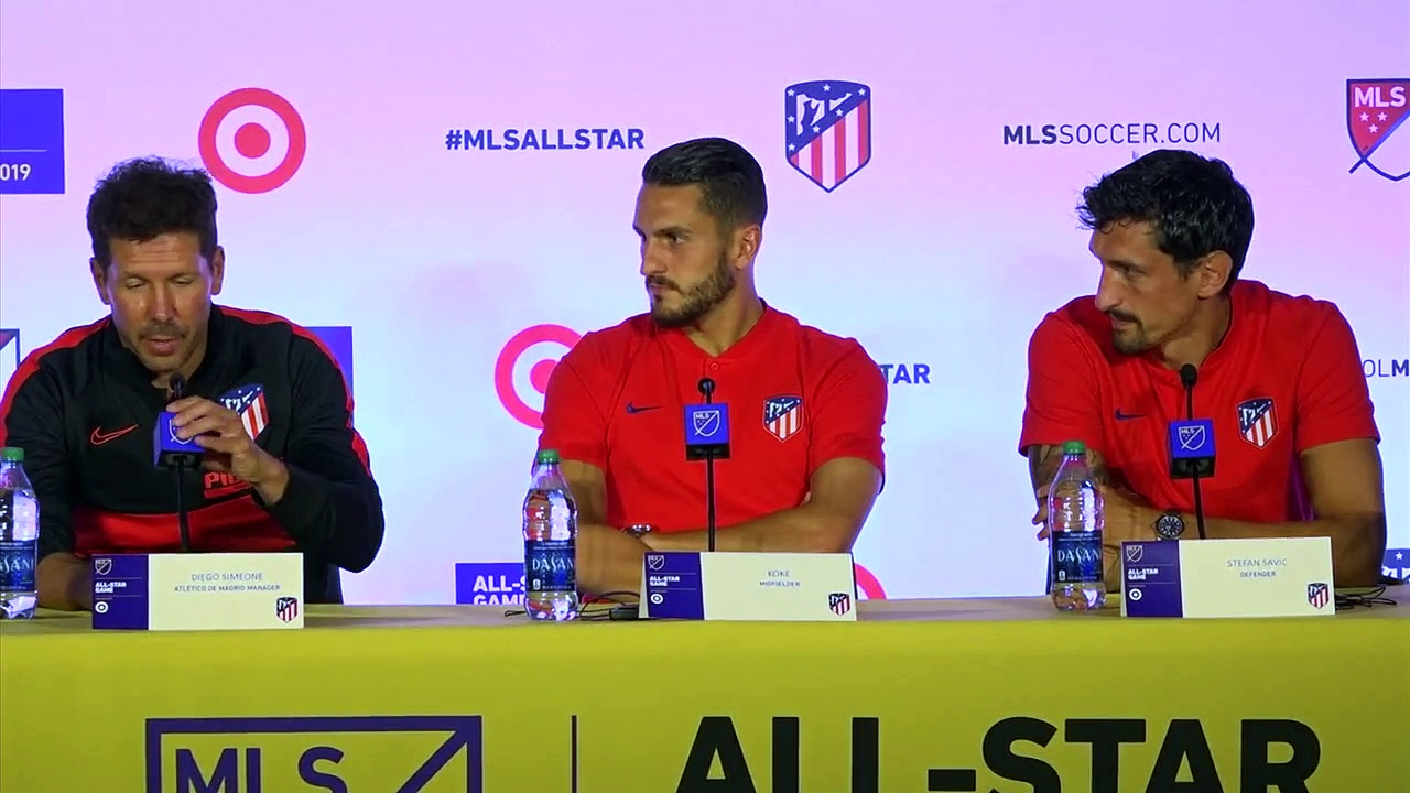 Simeone and Atletico Madrid look ahead to MLS All-Star game