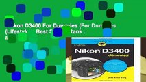 Nikon D3400 For Dummies (For Dummies (Lifestyle))  Best Sellers Rank : #2