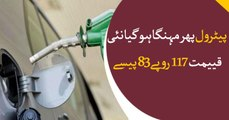 Petroleum prices increased to 117.83 rupees