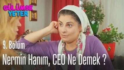 Nermin hanım CEO ne demek? - Gülümse Yeter 9. Bölüm