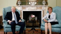 Britain PM visits Scotland, says Theresa May's deal is dead