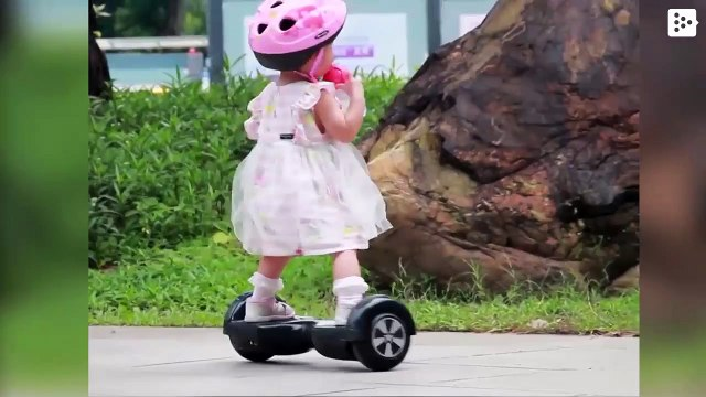 Girl goes viral in China for her ability with the electric scooter