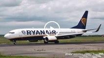 , Spotterday 2019,  Boeing 737-800 - Ryanair EI-EBI - taxiing and takeoff at Memmingen Airport [1080p50]