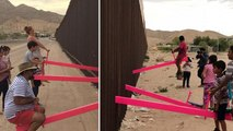 VÍDEO: Los niños de la frontera entre México y Estados Unidos juegan en el mismo balancín