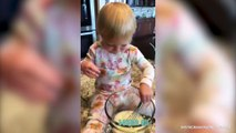 Master Chef In The Making- Check Out Ember Roloff's Pancake Mixing Skills