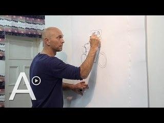 """En proceso: así es un taller con """"el artista que puede dibujar todo"""""""
