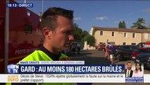 """Incendie dans le Gard: selon les pompiers, """"le feu n'est pas maîtrisé"""" et """"la situation peut s'aggraver"""""""