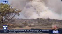 Incendie dans le Gard: le vent complique l'intervention des pompiers