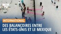 Des architectes installent des balançoires à la frontière entre les États-Unis et le Mexique