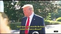 Donald Trump elogia Jair Bolsonaro e sinaliza apoio a indicação de Eduardo Bolsonaro ao cargo de embaixador dos EUA