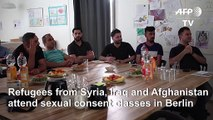 In Berlin, refugees take classes on sexual consent