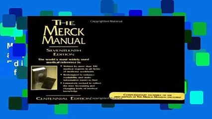 the merck manual of diagnosis and therapy 20th edition pdf