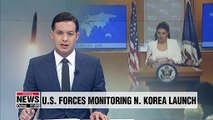 U.S. forces monitoring N. Korea 'missile launch'
