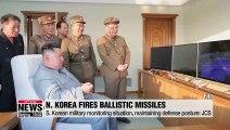 N. Korea fires two short-range ballistic missiles towards East Sea on Wednesday