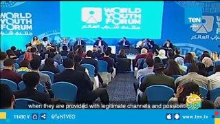 الرئيس السيسي يشهد فيلما تسجيليا عن تخرج الدفعة الأولى من البرنامج الرئاسي لتأهيل الشباب الإفريقي للقيادة