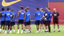 FC Barcelona - minus Lionel Messi - train ahead of new season