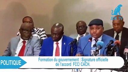 Accord officiel FCC-CACH pour la formation d'un gouvernement en RDC