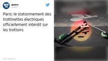 Les trottinettes électriques interdites de stationnement sur les trottoirs parisiens